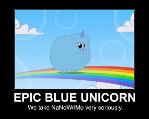 Epic Blue Unicorn