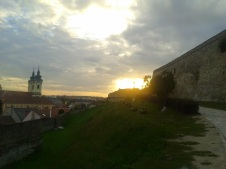 Castle Eger at sundown